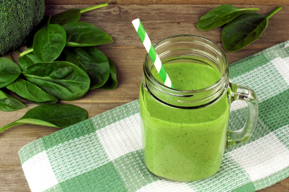 Green smoothie using pulse button in Blender